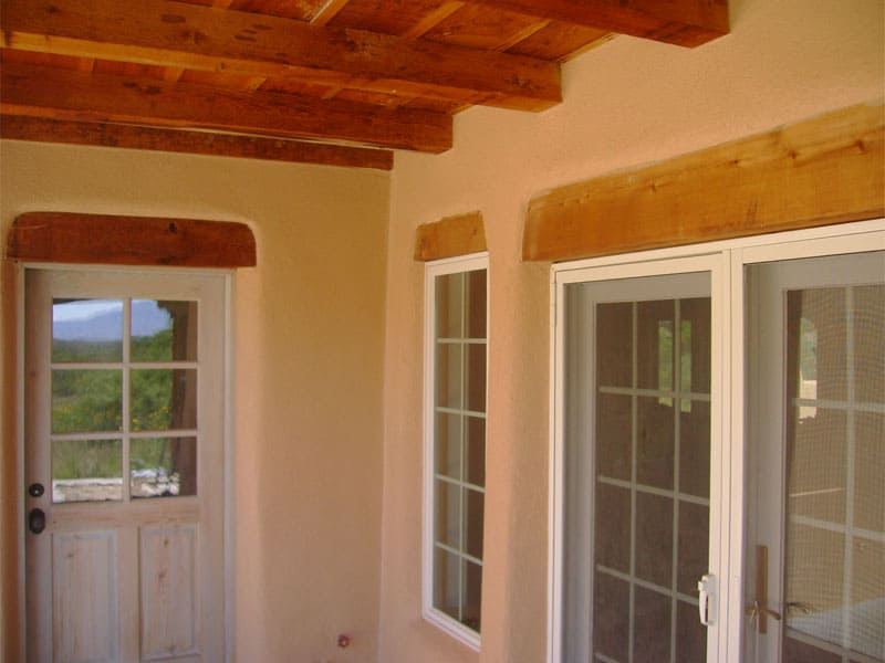 back portal, Pueblo-style home