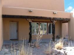 front portal on a Pueblo-style home