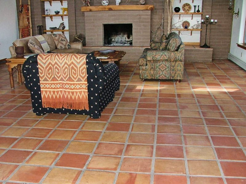 Saltillo tile in great room