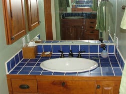 Blue Bathroom Tile