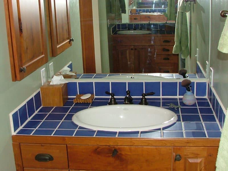 Blue Bathroom Tile