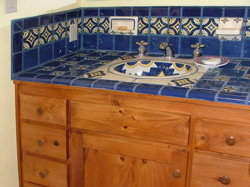 Talavera Tile Bathroom Sink