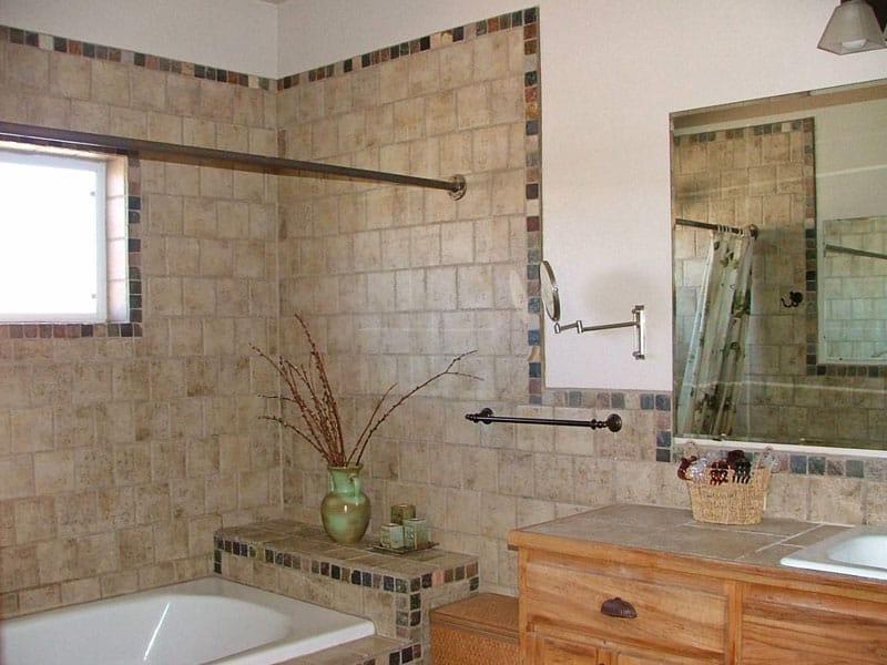 bathroom in browns
