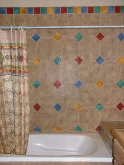 colorful bathroom tile