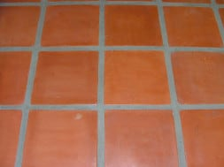 dyed saltillo tile floor