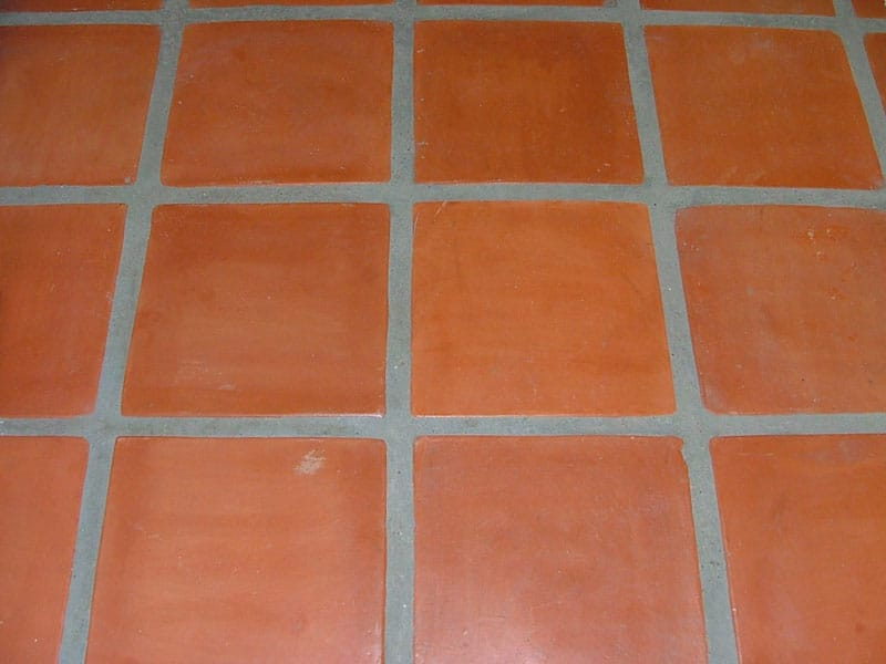 dyed saltillo tile floor