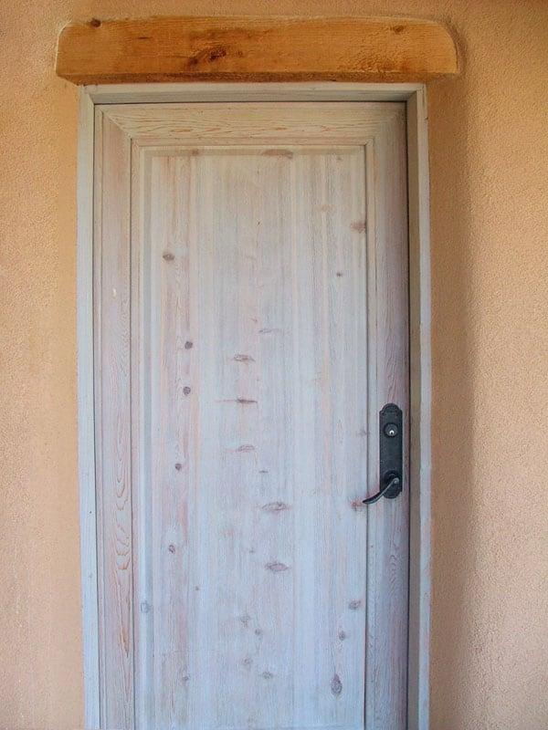 exterior door finish