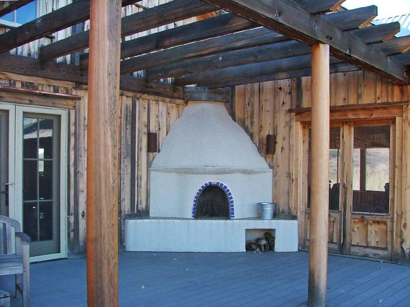 outdoor Kiva fireplace