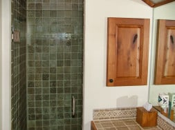 fully tiled shower
