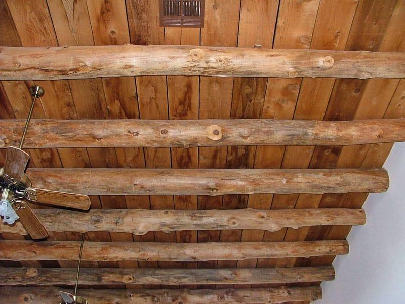 vigas and cedar slats