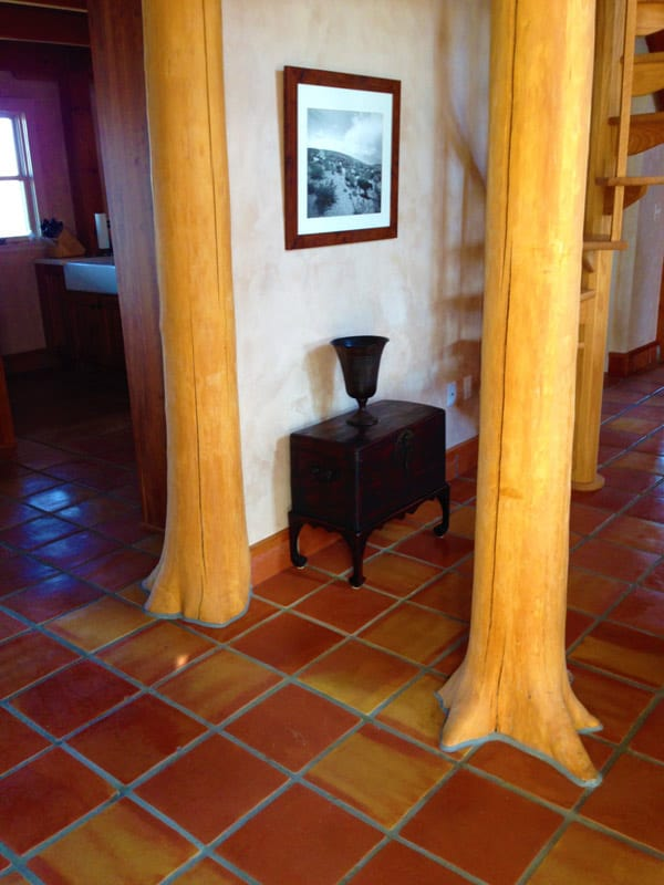 Las Palomas home for sale - natural timber posts