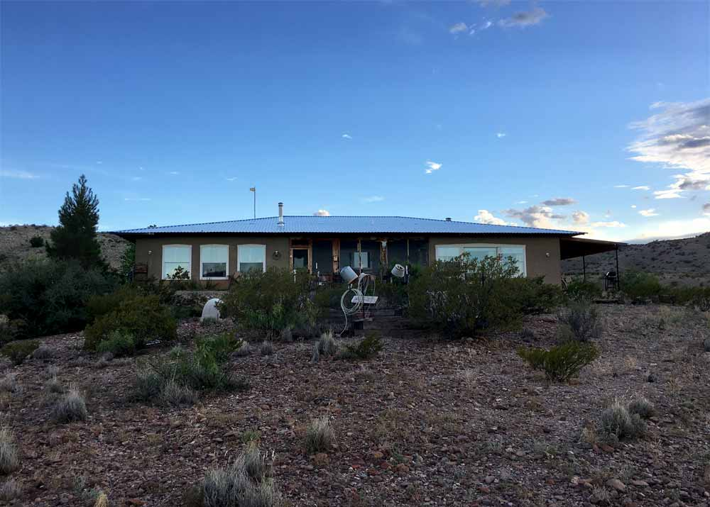 home for sale in New Mexico - dusk in the country