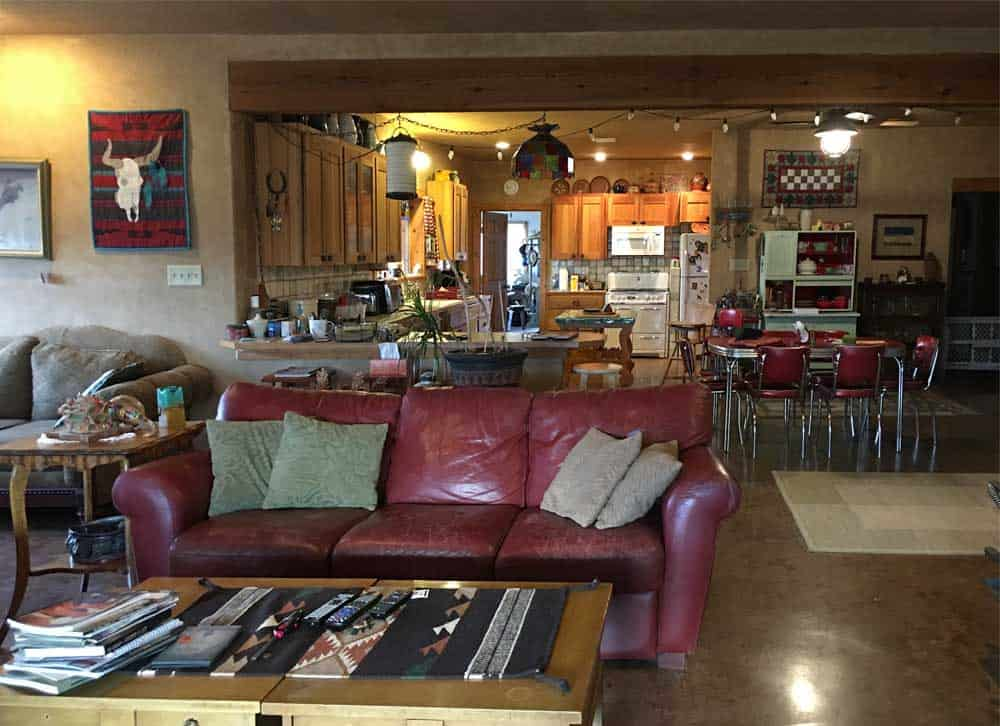 home for sale in New Mexico - living room, dining room, kitchen - open floor plan