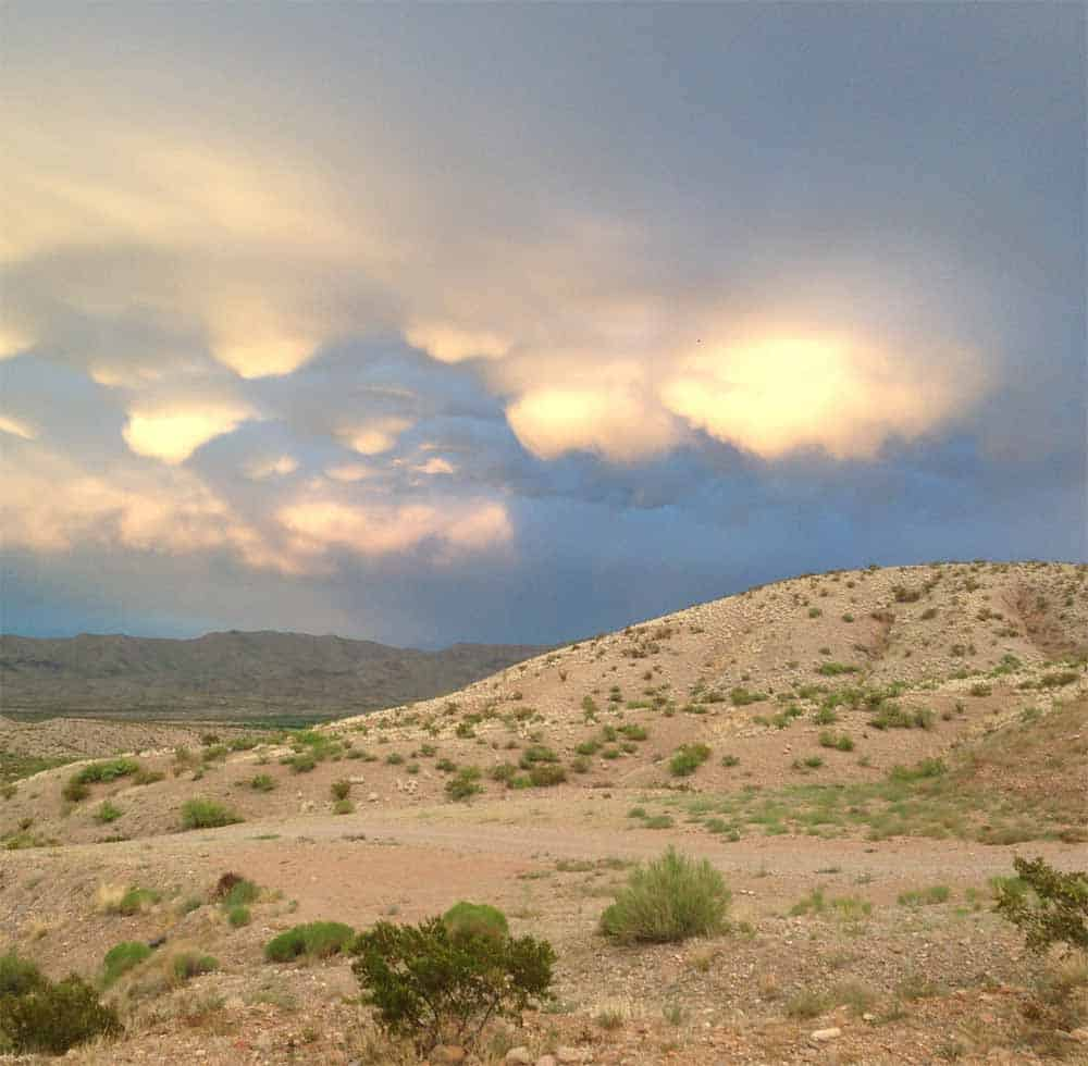 gorgeous skies in southern New Mexico