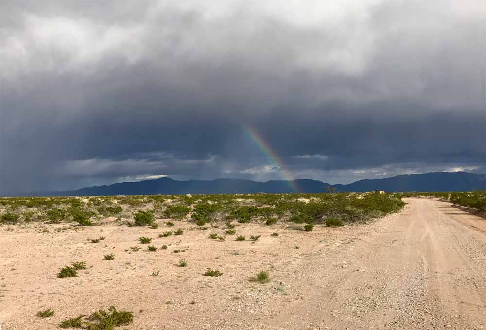 rainbow in southern New Mexico